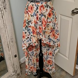 Urban Outfitters floral Hi-Lo skirt